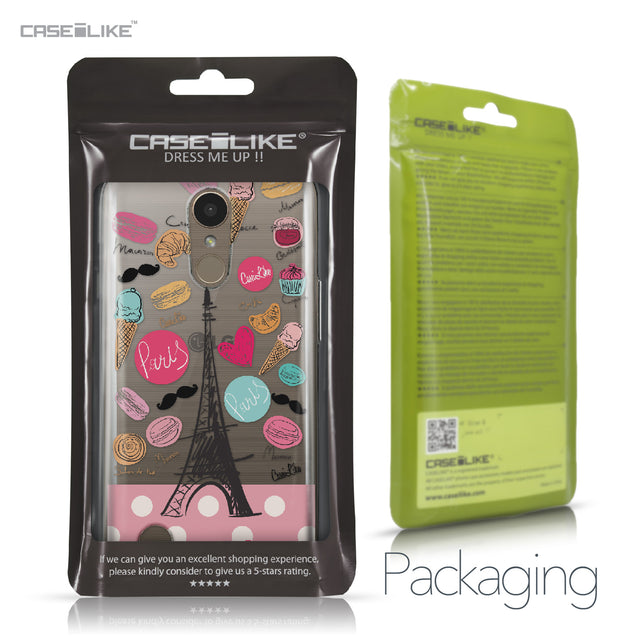 LG K10 2017 case Paris Holiday 3904 Retail Packaging | CASEiLIKE.com