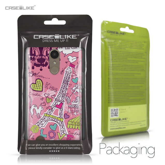 LG K10 2017 case Paris Holiday 3905 Retail Packaging | CASEiLIKE.com