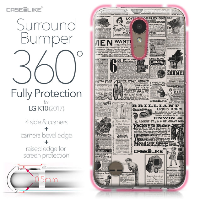 LG K10 2017 case Vintage Newspaper Advertising 4818 Bumper Case Protection | CASEiLIKE.com