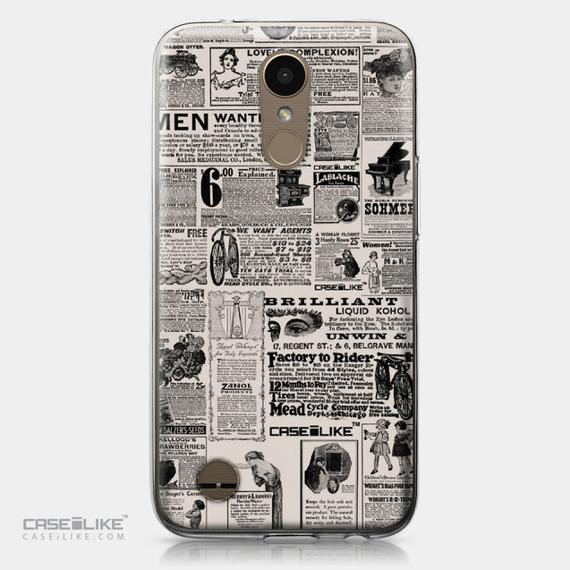 LG K10 2017 case Vintage Newspaper Advertising 4818 | CASEiLIKE.com