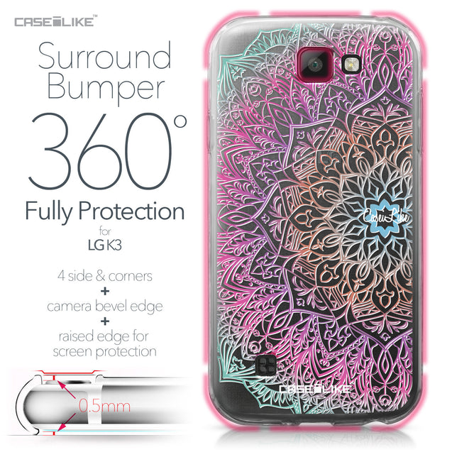 LG K3 case Mandala Art 2090 Bumper Case Protection | CASEiLIKE.com