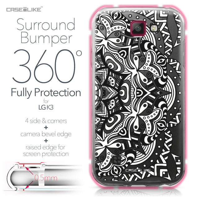 LG K3 case Mandala Art 2096 Bumper Case Protection | CASEiLIKE.com
