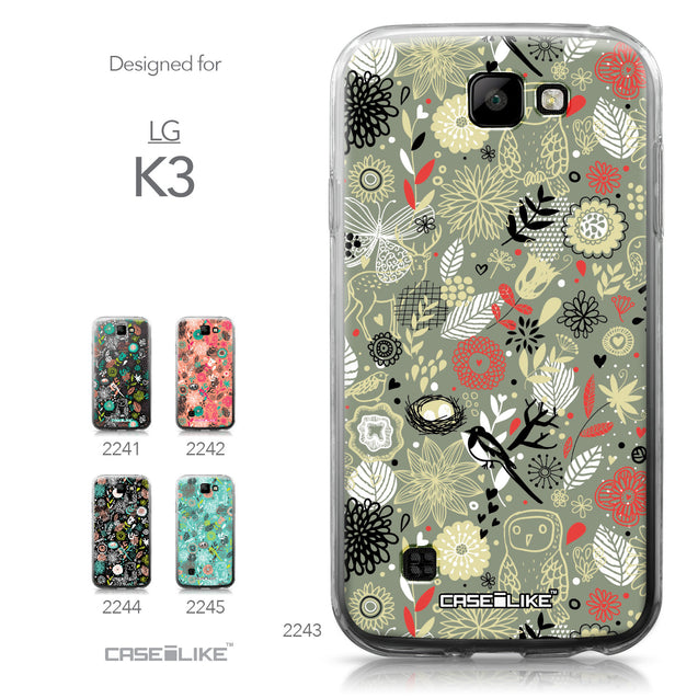LG K3 case Spring Forest Gray 2243 Collection | CASEiLIKE.com