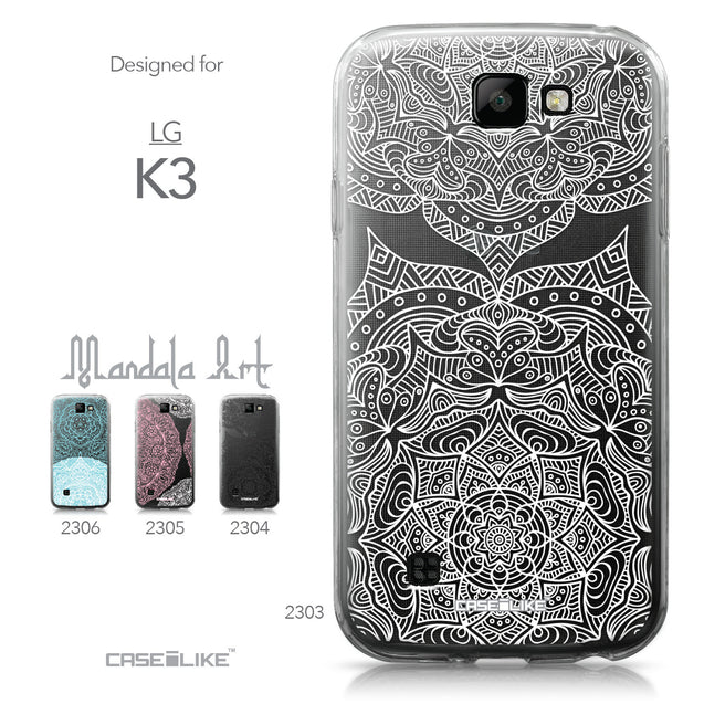 LG K3 case Mandala Art 2303 Collection | CASEiLIKE.com