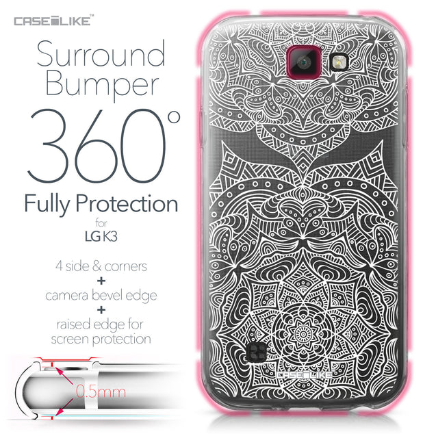 LG K3 case Mandala Art 2303 Bumper Case Protection | CASEiLIKE.com