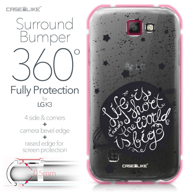 LG K3 case Quote 2401 Bumper Case Protection | CASEiLIKE.com
