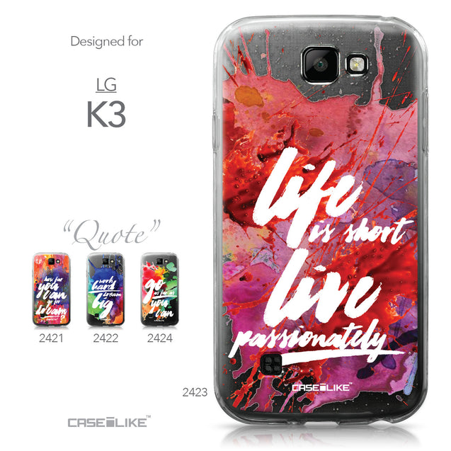 LG K3 case Quote 2423 Collection | CASEiLIKE.com