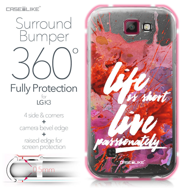 LG K3 case Quote 2423 Bumper Case Protection | CASEiLIKE.com