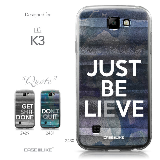 LG K3 case Quote 2430 Collection | CASEiLIKE.com