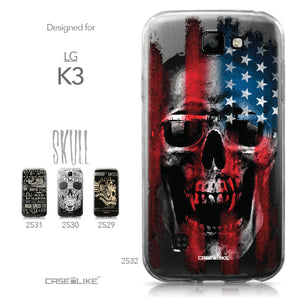 LG K3 case Art of Skull 2532 Collection | CASEiLIKE.com