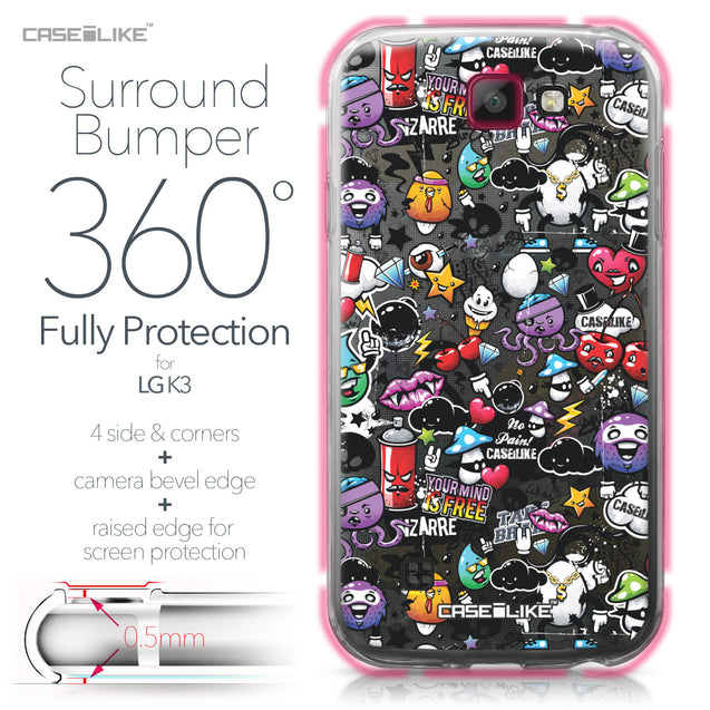 LG K3 case Graffiti 2703 Bumper Case Protection | CASEiLIKE.com