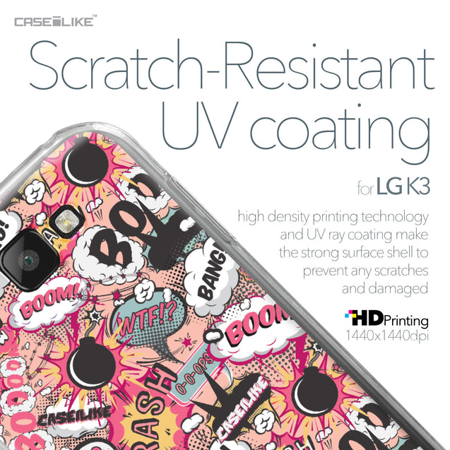 LG K3 case Comic Captions Pink 2912 with UV-Coating Scratch-Resistant Case | CASEiLIKE.com