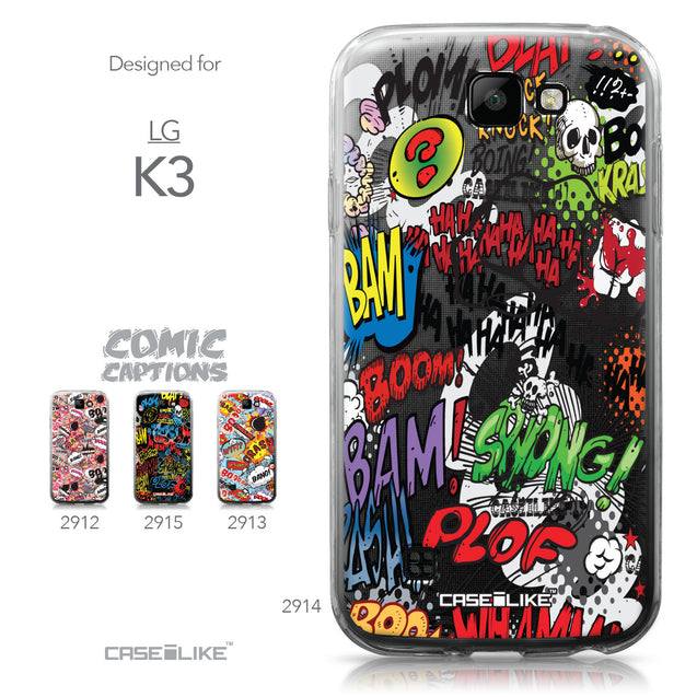 LG K3 case Comic Captions 2914 Collection | CASEiLIKE.com