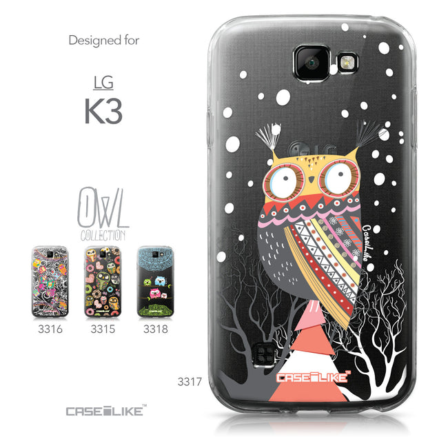 LG K3 case Owl Graphic Design 3317 Collection | CASEiLIKE.com