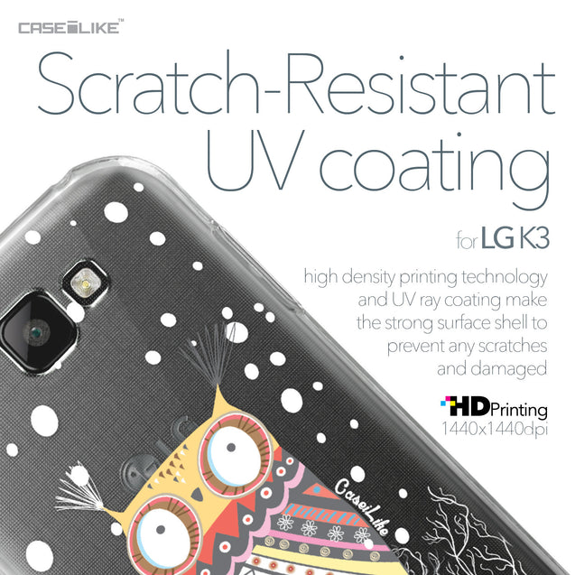 LG K3 case Owl Graphic Design 3317 with UV-Coating Scratch-Resistant Case | CASEiLIKE.com