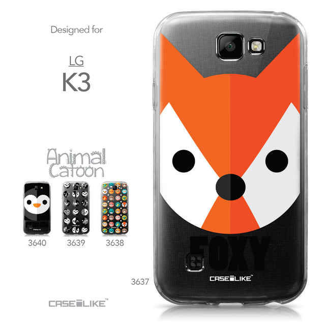 LG K3 case Animal Cartoon 3637 Collection | CASEiLIKE.com
