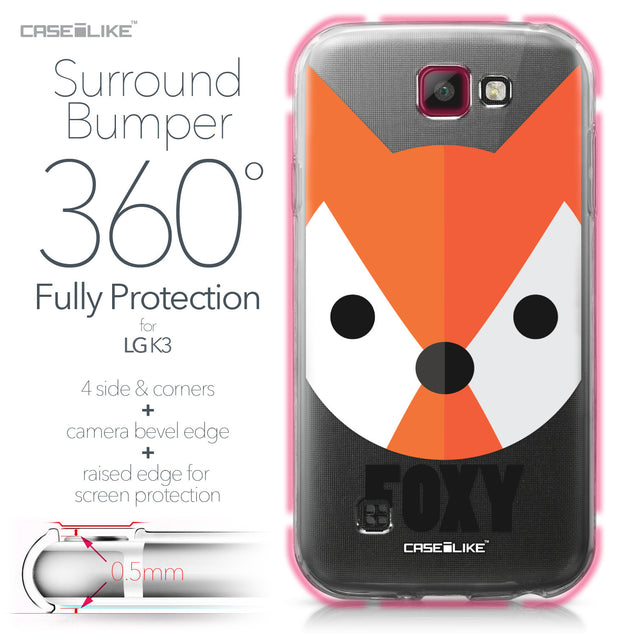 LG K3 case Animal Cartoon 3637 Bumper Case Protection | CASEiLIKE.com