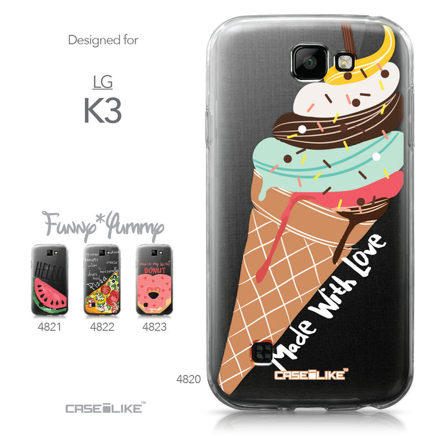 LG K3 case Ice Cream 4820 Collection | CASEiLIKE.com
