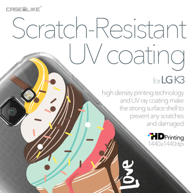 LG K3 case Ice Cream 4820 with UV-Coating Scratch-Resistant Case | CASEiLIKE.com