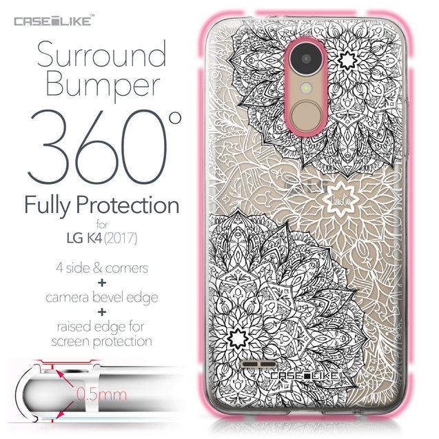 LG K4 2017 case Mandala Art 2093 Bumper Case Protection | CASEiLIKE.com