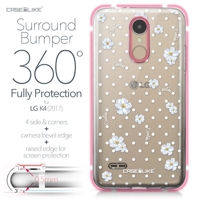 LG K4 2017 case Watercolor Floral 2235 Bumper Case Protection | CASEiLIKE.com