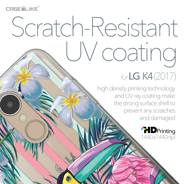 LG K4 2017 case Tropical Floral 2240 with UV-Coating Scratch-Resistant Case | CASEiLIKE.com