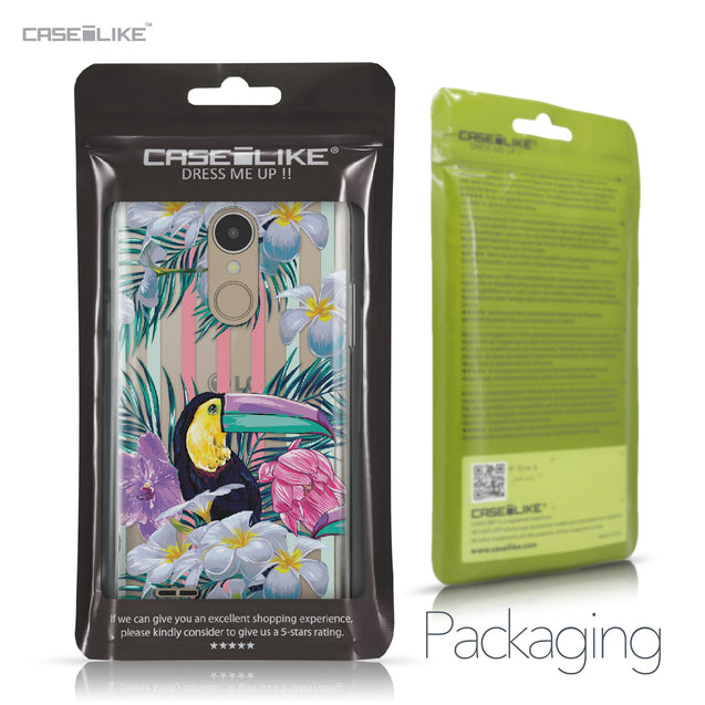 LG K4 2017 case Tropical Floral 2240 Retail Packaging | CASEiLIKE.com