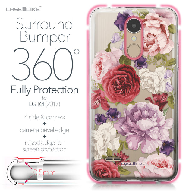 LG K4 2017 case Mixed Roses 2259 Bumper Case Protection | CASEiLIKE.com