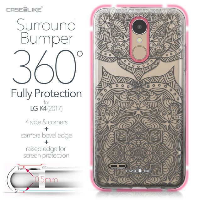LG K4 2017 case Mandala Art 2304 Bumper Case Protection | CASEiLIKE.com