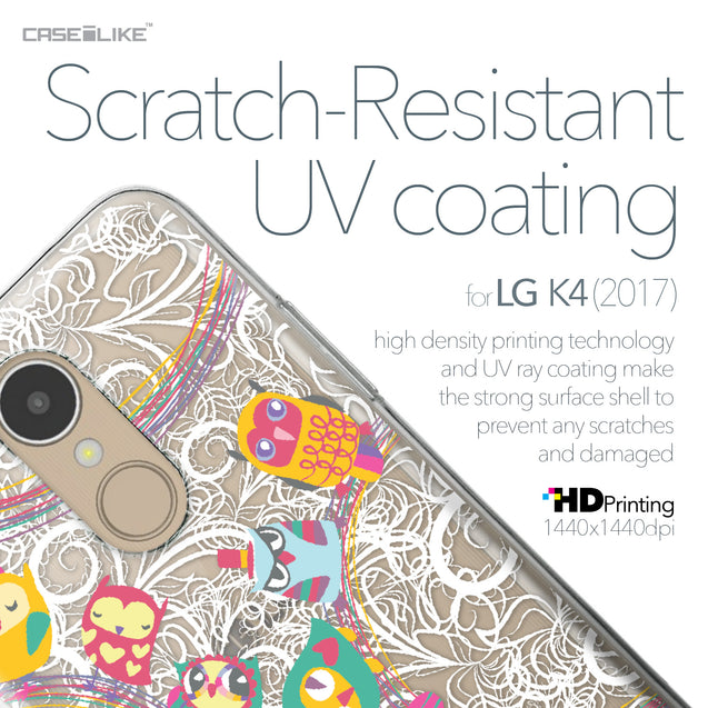 LG K4 2017 case Owl Graphic Design 3316 with UV-Coating Scratch-Resistant Case | CASEiLIKE.com