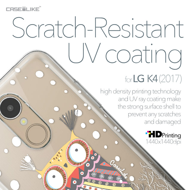 LG K4 2017 case Owl Graphic Design 3317 with UV-Coating Scratch-Resistant Case | CASEiLIKE.com