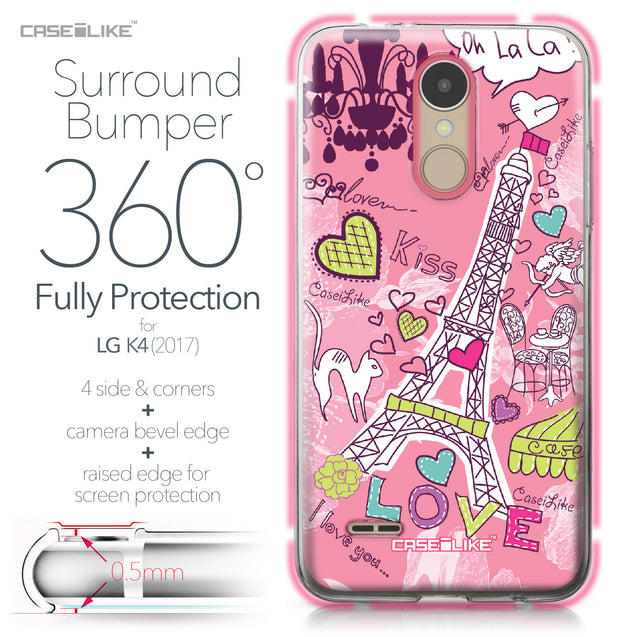 LG K4 2017 case Paris Holiday 3905 Bumper Case Protection | CASEiLIKE.com