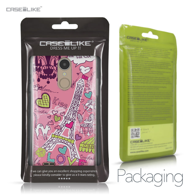 LG K4 2017 case Paris Holiday 3905 Retail Packaging | CASEiLIKE.com
