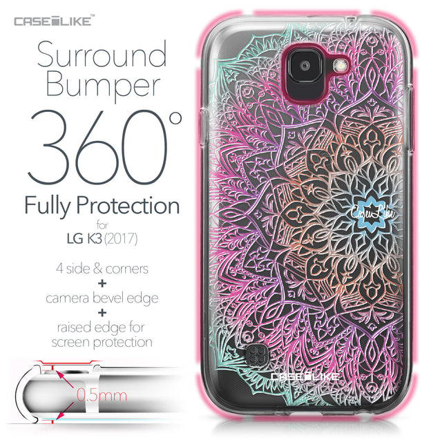 LG K3 2017 case Mandala Art 2090 Bumper Case Protection | CASEiLIKE.com