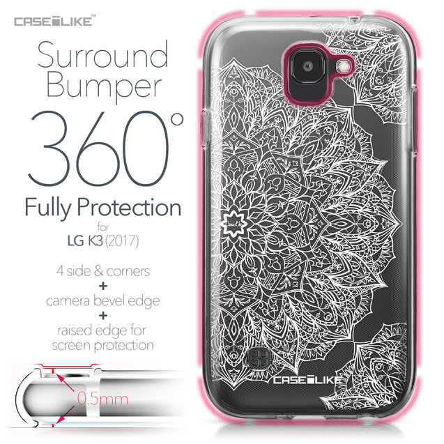 LG K3 2017 case Mandala Art 2091 Bumper Case Protection | CASEiLIKE.com