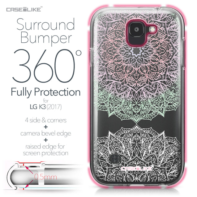 LG K3 2017 case Mandala Art 2092 Bumper Case Protection | CASEiLIKE.com
