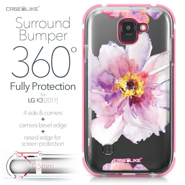 LG K3 2017 case Watercolor Floral 2231 Bumper Case Protection | CASEiLIKE.com