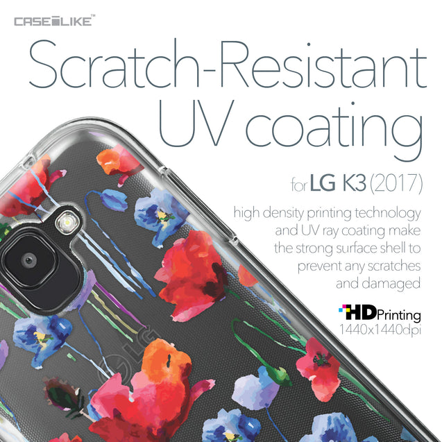 LG K3 2017 case Watercolor Floral 2234 with UV-Coating Scratch-Resistant Case | CASEiLIKE.com