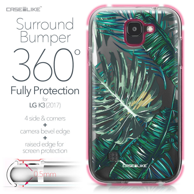 LG K3 2017 case Tropical Palm Tree 2238 Bumper Case Protection | CASEiLIKE.com