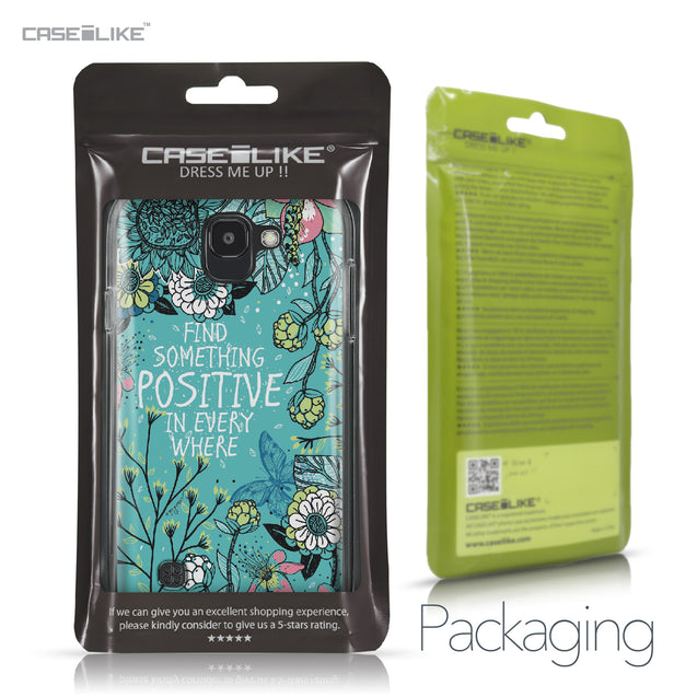 LG K3 2017 case Blooming Flowers Turquoise 2249 Retail Packaging | CASEiLIKE.com