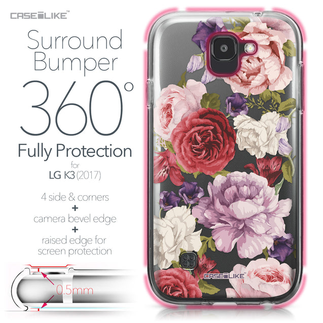 LG K3 2017 case Mixed Roses 2259 Bumper Case Protection | CASEiLIKE.com