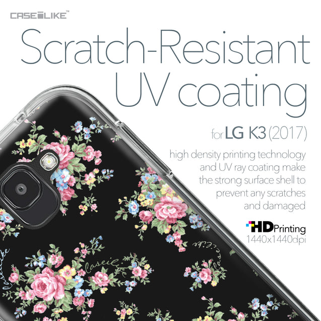 LG K3 2017 case Floral Rose Classic 2261 with UV-Coating Scratch-Resistant Case | CASEiLIKE.com