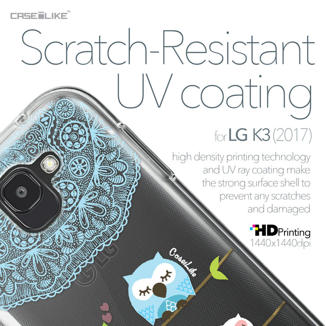 LG K3 2017 case Owl Graphic Design 3318 with UV-Coating Scratch-Resistant Case | CASEiLIKE.com