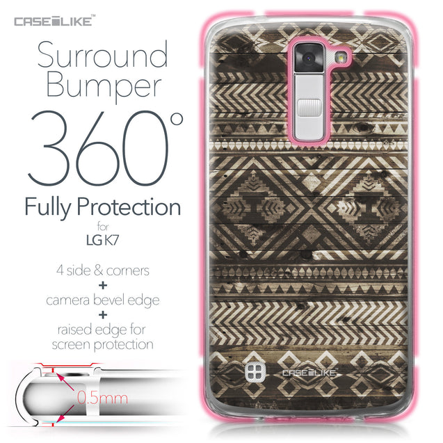 LG K7 case Indian Tribal Theme Pattern 2050 Bumper Case Protection | CASEiLIKE.com