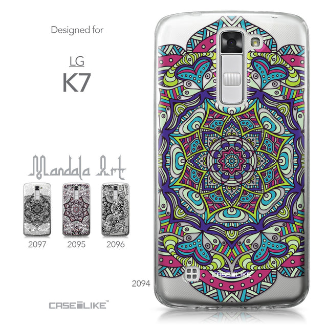 LG K7 case Mandala Art 2094 Collection | CASEiLIKE.com