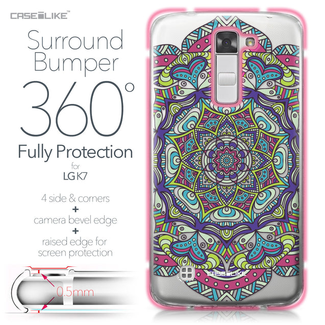 LG K7 case Mandala Art 2094 Bumper Case Protection | CASEiLIKE.com