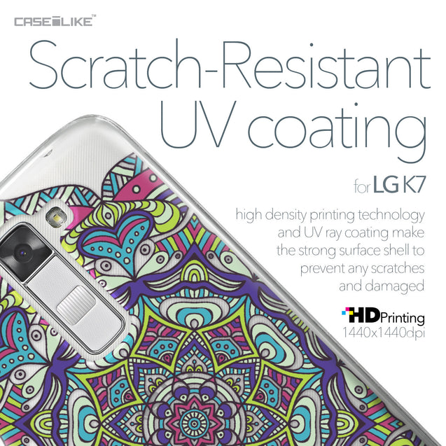 LG K7 case Mandala Art 2094 with UV-Coating Scratch-Resistant Case | CASEiLIKE.com