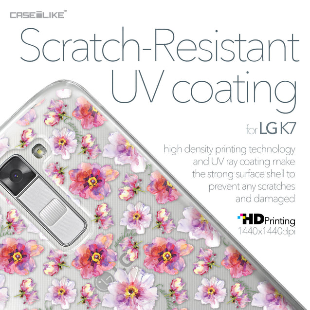 LG K7 case Watercolor Floral 2232 with UV-Coating Scratch-Resistant Case | CASEiLIKE.com