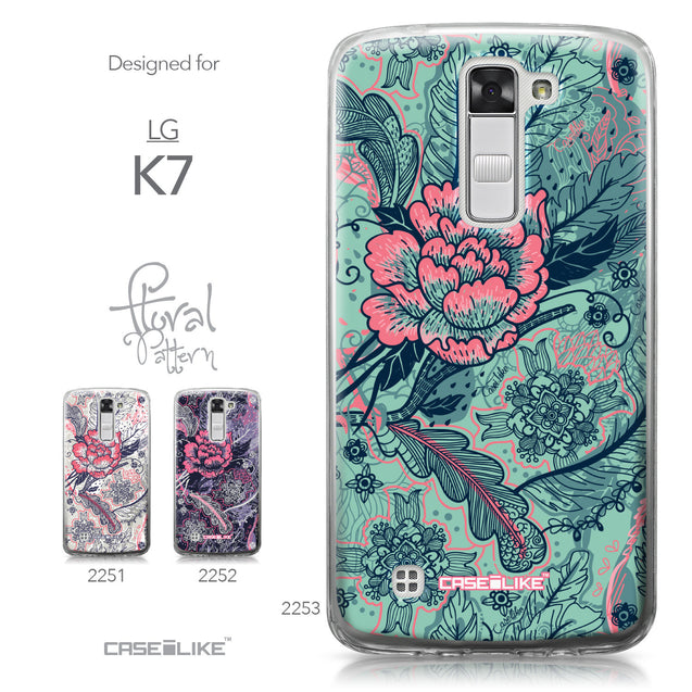 LG K7 case Vintage Roses and Feathers Turquoise 2253 Collection | CASEiLIKE.com