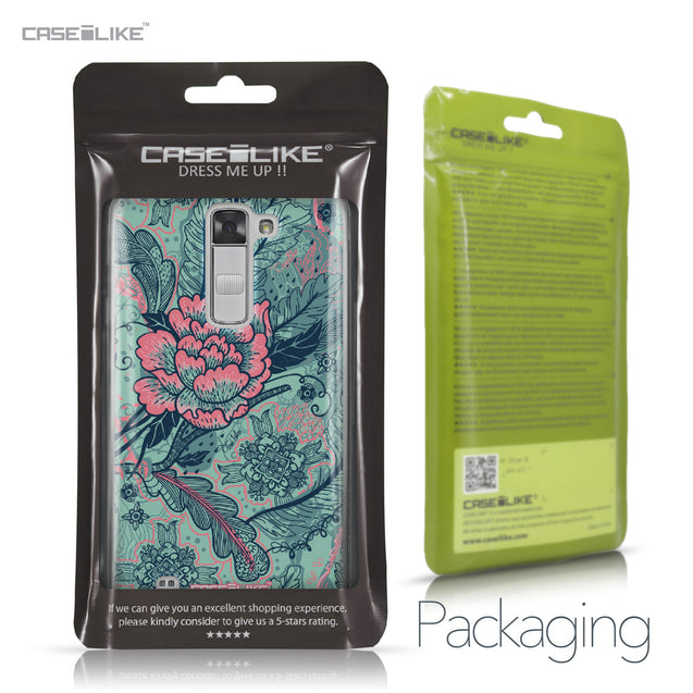LG K7 case Vintage Roses and Feathers Turquoise 2253 Retail Packaging | CASEiLIKE.com
